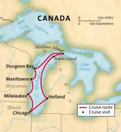Great Lakes Michigan Map