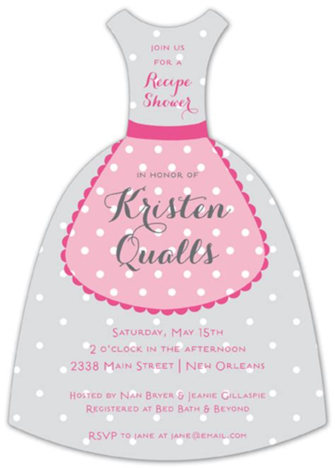 polka dot apron wedding dress invites