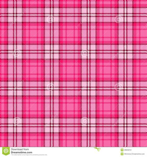 bright pink seamless tartan stock vector illustration