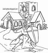 Drawing Coloring Church Medieval Printable Knight Ages Dark Castle King Arthur Camelot Landscape British Outline Historical Draw Older Children Building sketch template