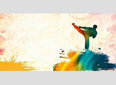 Taekwondo Poster Background, Taekwondo, Poster, Draw