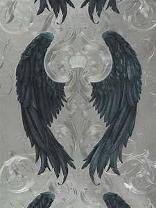 Vliestapete gloockler engelsflugel silber blau metallic 52579 for Balkon teppich mit harald glööckler tapete engelsflügel