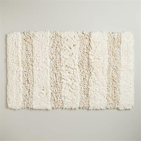 world market bath rugs ivory hi low shag bath mat world market