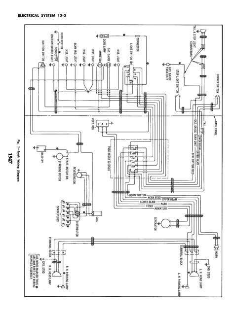 Show Wiring Diagram by Wiring Diagram For 1947 Chevrolet Truck 59005 Circuit
