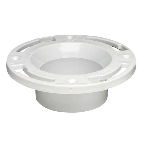 Closet Flanges by Oatey 3 In Pvc Dwv Closet Flange With Test Cap 43507