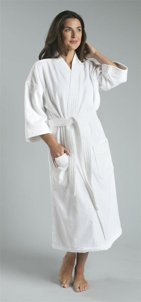 12oz ultimate velour terry kimono robe