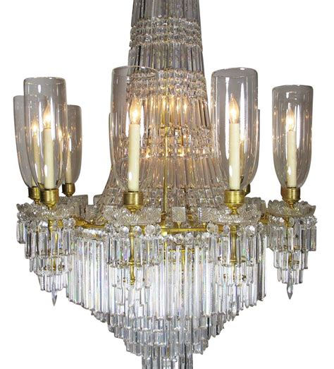 19th 20th century gilt bronze and baccarat chandelier from