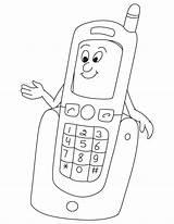Coloring Phone Preschool Electronics Kindergarten Worksheets Toddler Comment Leave Preschoolactivities sketch template