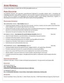 special education assistant resume objective resume sle special education