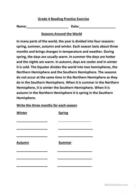 Grade 4 Reading Practice Worksheet  Free Esl Printable Worksheets Made By Teachers