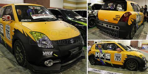 transformasi suzuki swift gt menjadi racing drag