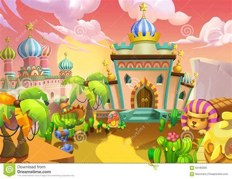 illustration  desert city  palaces royal