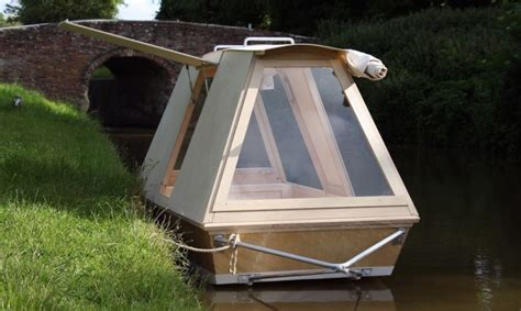 Small Boat With Bed by Water Bed Boat Is A Nomadic Shelter For Both Land And