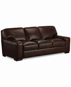 Kassidy leather sofa only at macy39s furniture macy39s for Macy s sectional sofa leather