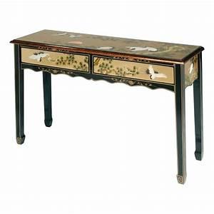 Console Ameublement : console chinoise 2 tiroirs meubles ~ Melissatoandfro.com Idées de Décoration