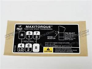 T2090 9 Speed Shift Pattern Diagram  Mack Transmission P  N