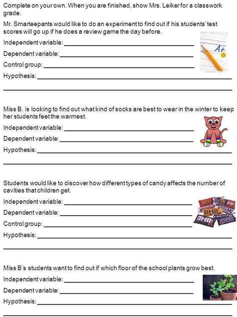 Independent And Dependent Variables Worksheet Homeschooldressagecom