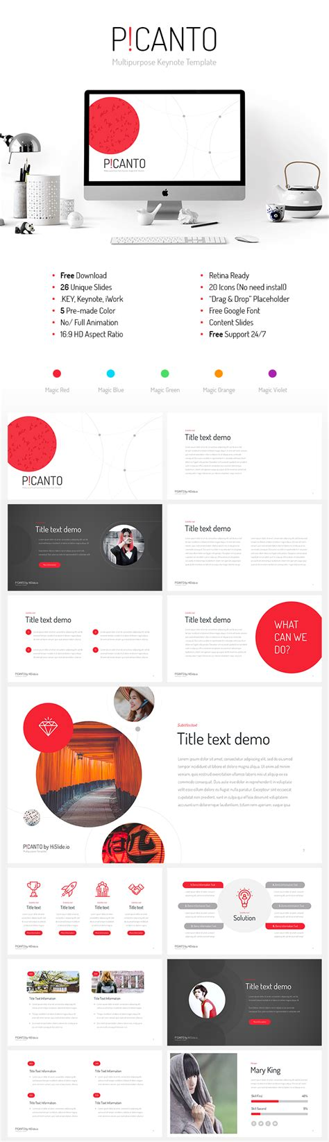 Free Keynote Templates Picanto Keynote Template Free Now Premium Design
