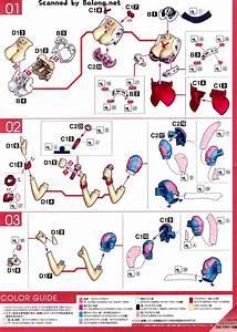 Bandai Makina Nakajima English Manual  U0026 Color Guide Figure