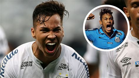 Santos wonderkid Kaio Jorge following in Neymar's ...