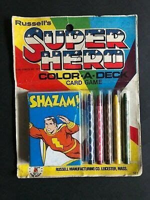 Shazam tells that once, 5,000 years before, he gave powers to black adam, but black adam was killed while turning back to his regular self. SHAZAM SUPER HERO VINTAGE COLOR-A-DECK CARD GAME   eBay