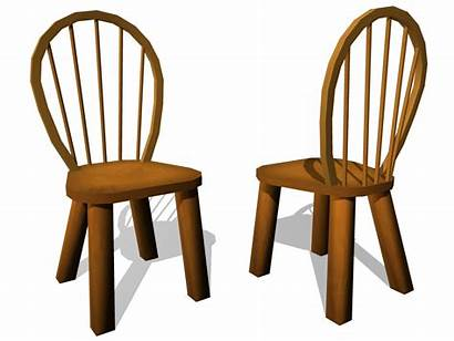Chair Cartoon Chairs Clip Clipart Cliparts Wooden