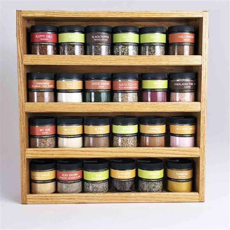 Spice Rack Storage System by Hanging 24 Jar Spice Rack
