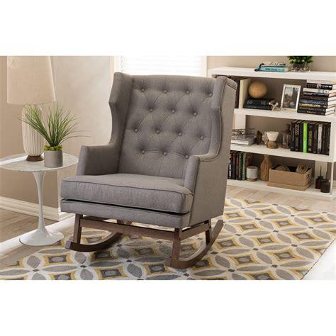 baxton studio iona mid century retro modern grey fabric