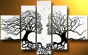 canvas tree art on wall with long canvas ideas furniture With what kind of paint to use on kitchen cabinets for tree trunk wall art