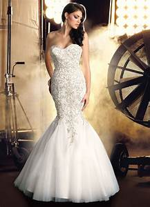 Strapless Mermaid Wedding Dresses With Bling | Brides ...