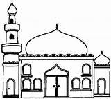 Mosque Coloring Buildings Architecture Mosquee Drawing Cours Enfants Pour Album sketch template