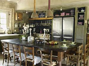 Cuisine Deco Industrielle : fransk landstil l kre franske landk kkener min blog om fransk antik ~ Carolinahurricanesstore.com Idées de Décoration