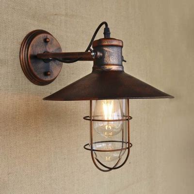 copper wall sconces antique copper 1 lt wall sconce with cage in nautical