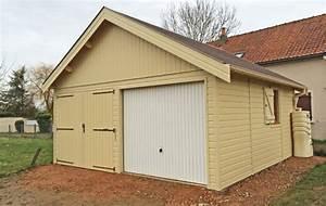 Garage Ossature Bois : garage en ossature bois avec bardage de couleur ~ Melissatoandfro.com Idées de Décoration