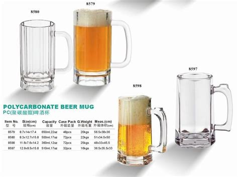 Unbreakable Barware Supplies Wholesale Polycarbonate Big