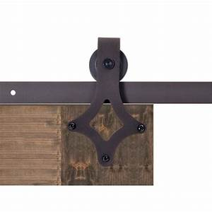 calhome 72 in antique bronze rustic star barn style With 72 barn door hardware