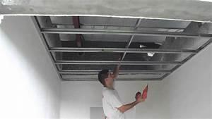 Faux Plafond Autoportant : faux plafond 2 youtube ~ Nature-et-papiers.com Idées de Décoration