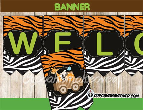 jungle animals baby shower package instant