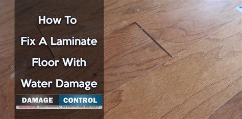 fix  laminate floor  water damage  damage