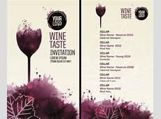 Watercolor wine menu design vector Free vector in