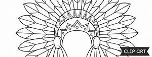 Indian Headdress Template  U2013 Clipart