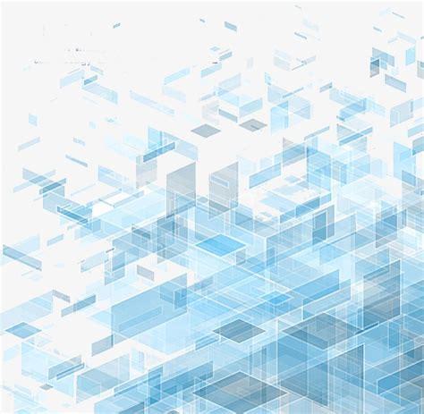 Blue Transparent Threedimensional Block Diagram
