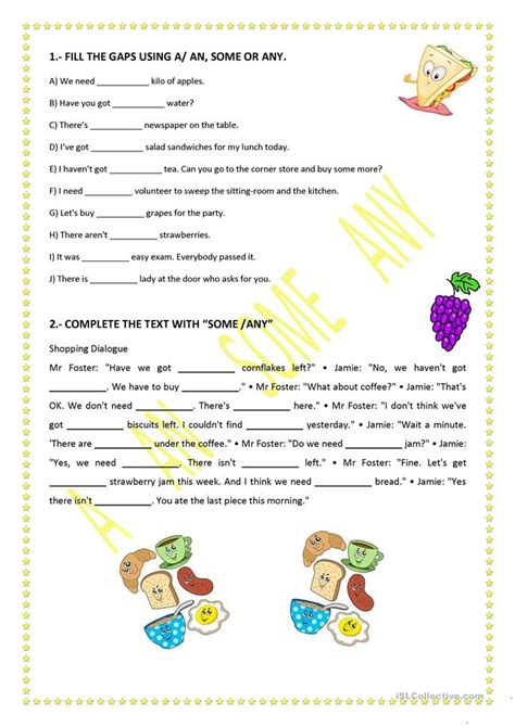 a an some or any worksheet free esl printable worksheets made by teachers