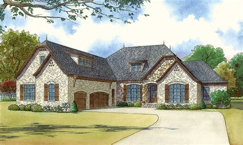 bedroom brick  stone house plan mk architectural designs house plans