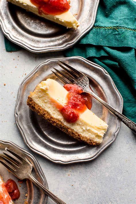 cheesecake batch creamy recipe sallysbakingaddiction baking addiction sally recipes sallys pan