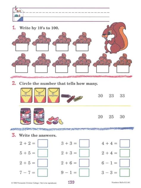 Abeka Kindergarten Math  Learning Pinterest