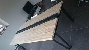 Couper Un Plan De Travail : une table de salon bois m tal ~ Dailycaller-alerts.com Idées de Décoration