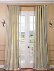 hton faux silk taffeta stripe curtain contemporary