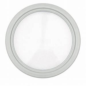 hublot rond blanc diametre 31 cm pour porte de garage With hublot pour porte de garage castorama