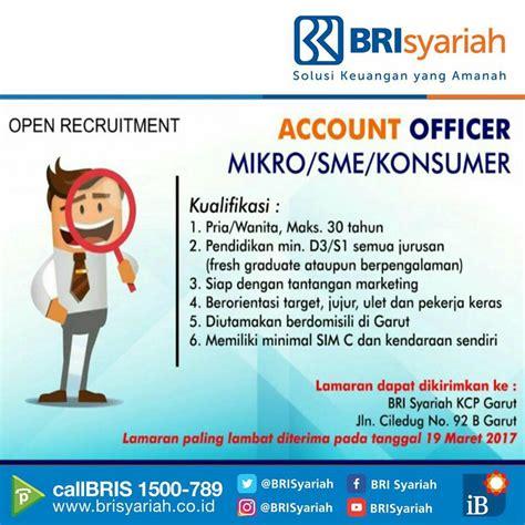 lowongan kerja bank brisyariah sebagai account officer